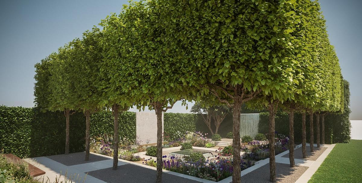 The RAMC Charity garden at the Chelsea Flower Show 2020